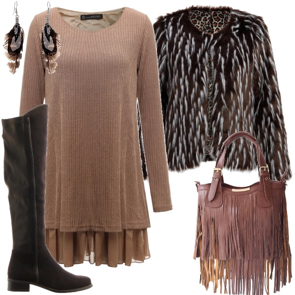 Outfit Chic in stile bohemian