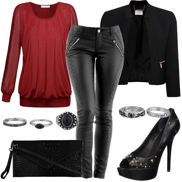 Outfit Decisamente sexy e rock
