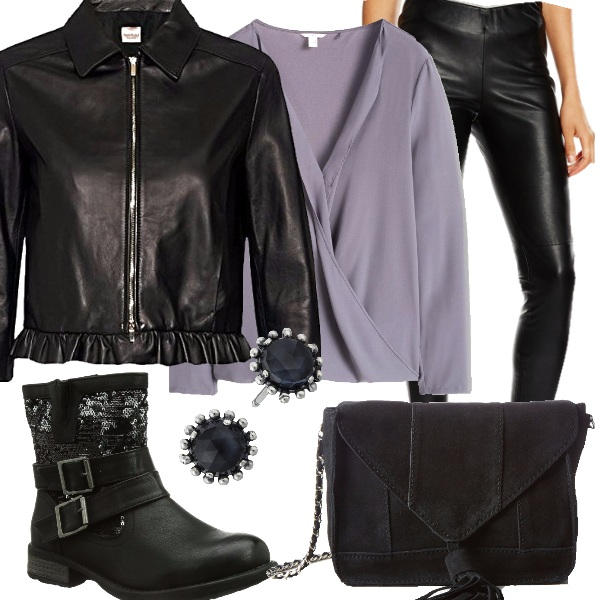 Outfit Il mio stile rock