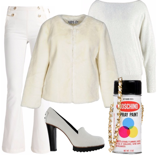 Outfit Trendy in bianco