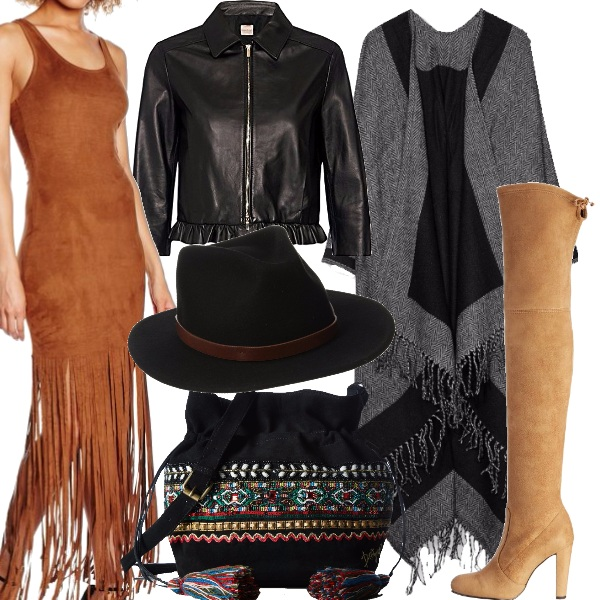 Outfit Frange e ricami