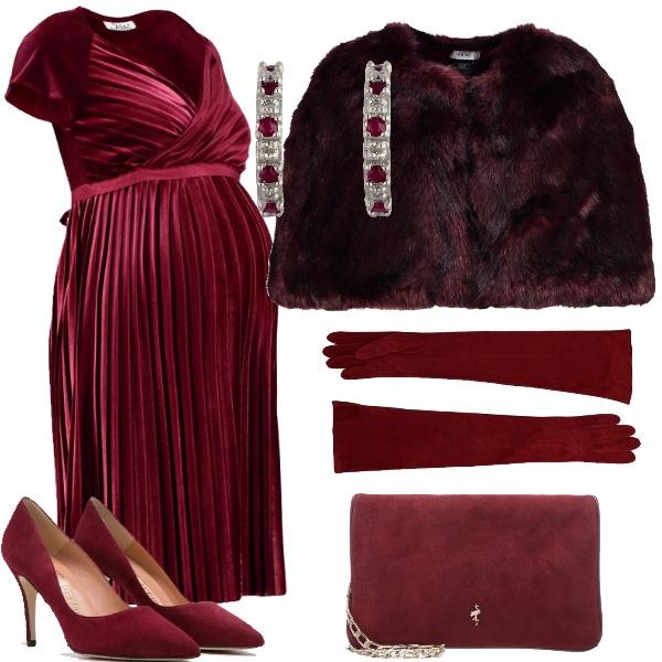 Outfit L' eleganza del rosso bordeaux