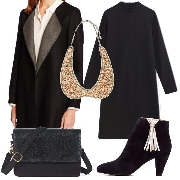 Outfit Con il collier con perle e strass