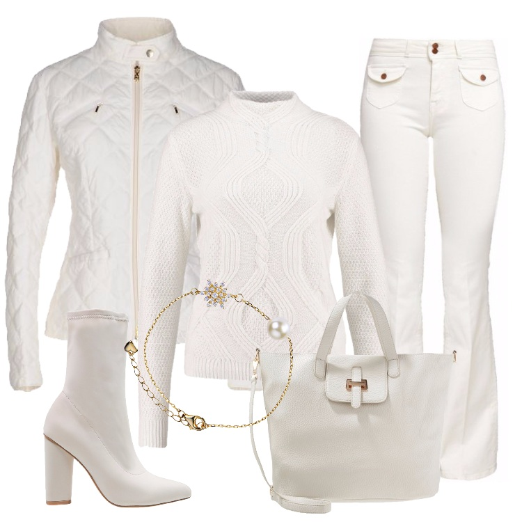 Outfit Total white in città