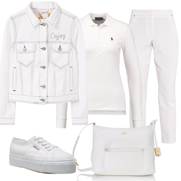 Outfit Sportiva in bianco