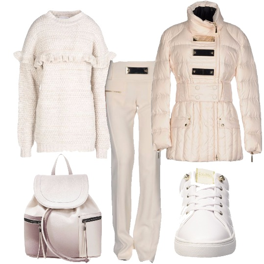 Outfit Casual in bianco