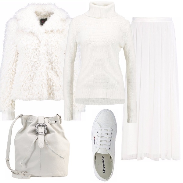 Outfit Sporty chic in bianco