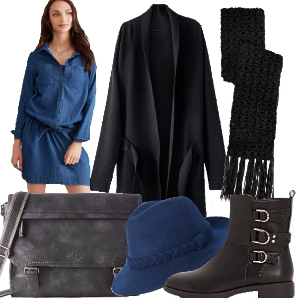 Outfit Mamma in denim