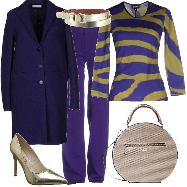 Outfit Un po' di oro sul viola