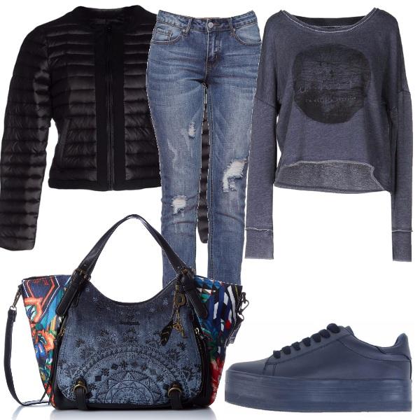 Outfit Blu sportivo