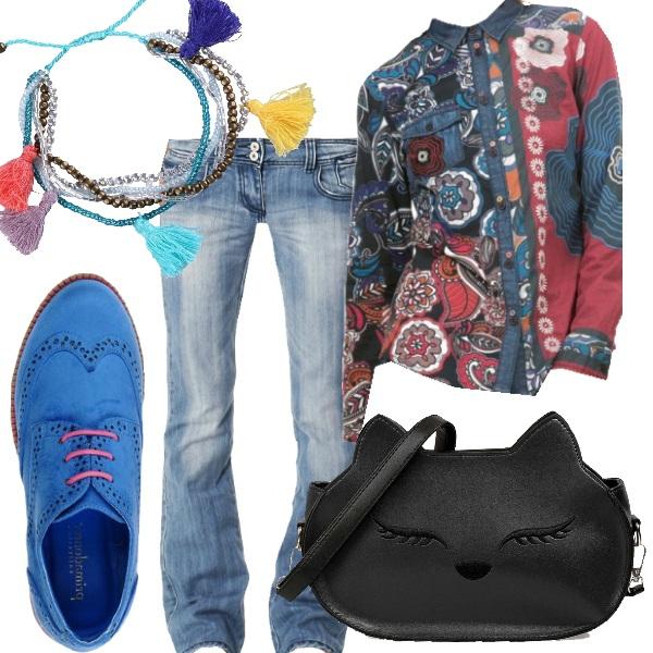 Outfit Tendenza denim e colori per l'inverno