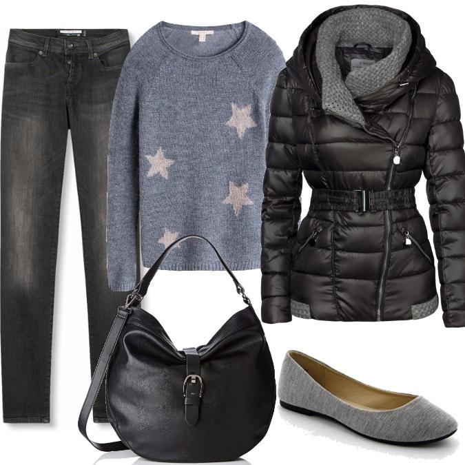 Outfit Grigio e nero accoppiata perfetta