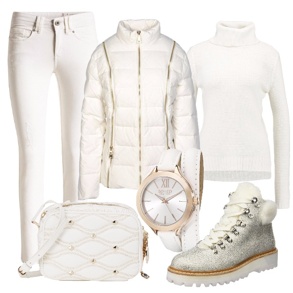 Outfit Femminile e sporty in bianco