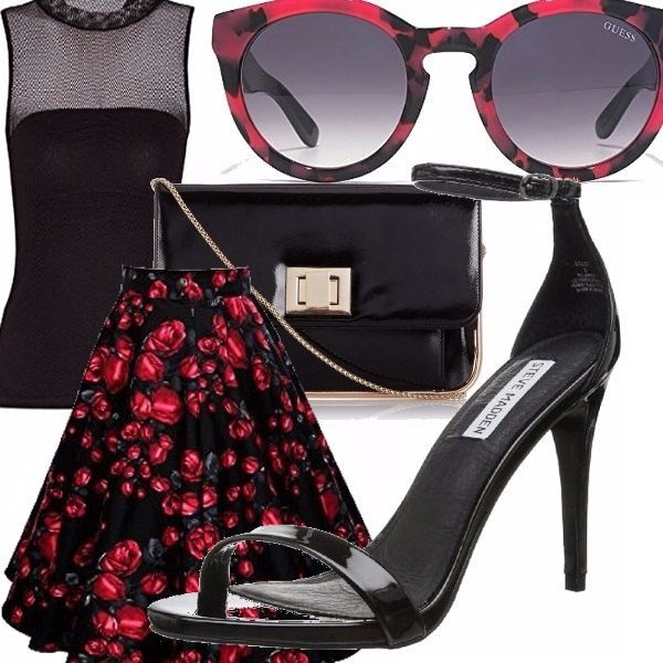 Outfit Red rose