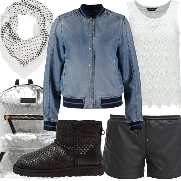 Outfit Bomber denim