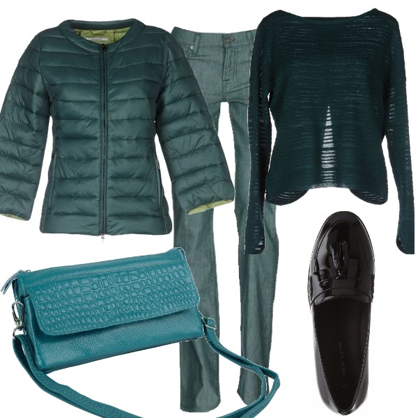 Outfit Petit in verde