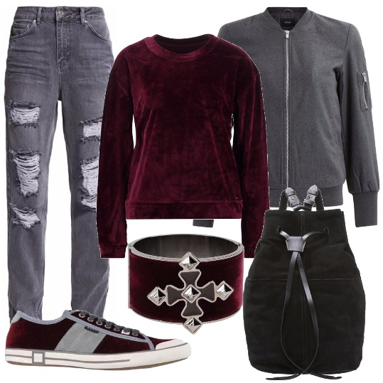 Outfit Tocchi vellutati