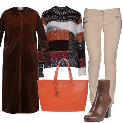 Outfit Il cappotto classico in velluto