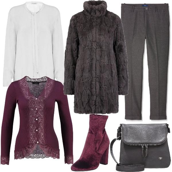 Outfit Velluto bordeaux