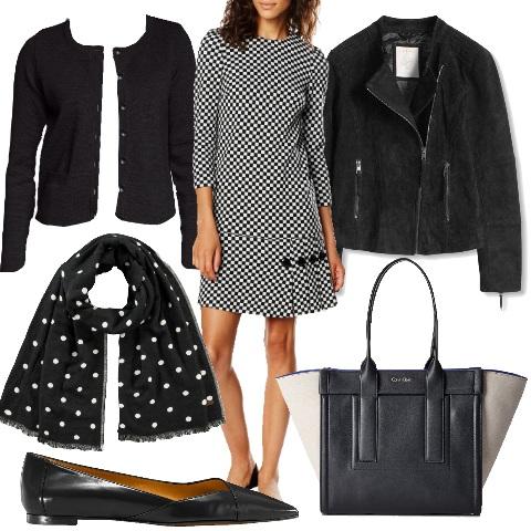 Outfit Fantasia optical in bianco e nero