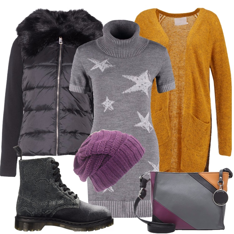 Outfit Dr. Martens in velluto