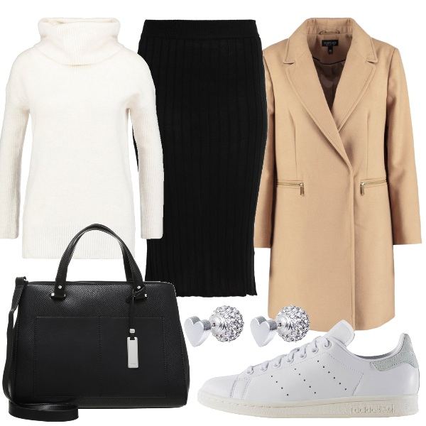 Outfit Longuette e sneakers