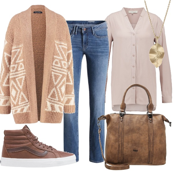 Outfit Toni del beige