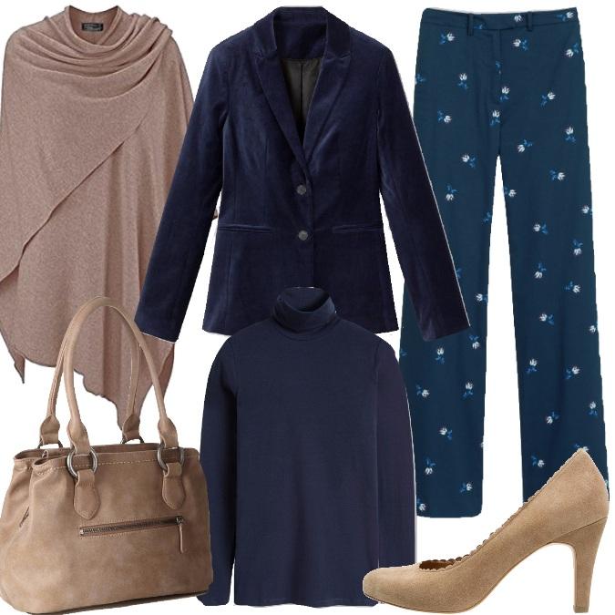 Outfit Blu e beige per il giorno