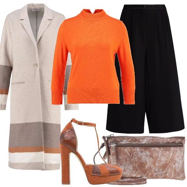 Outfit Culottes e plateau