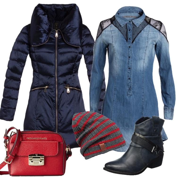 Outfit Il piumino blu