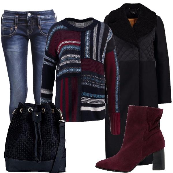 Outfit Il maglione fantasia