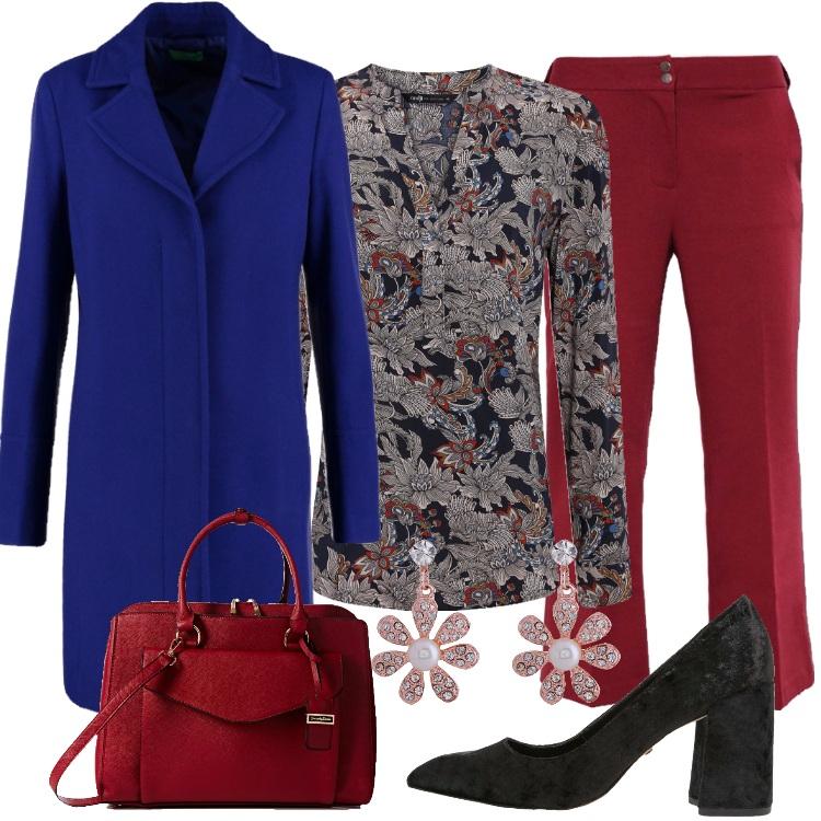Outfit Il cappotto bluette