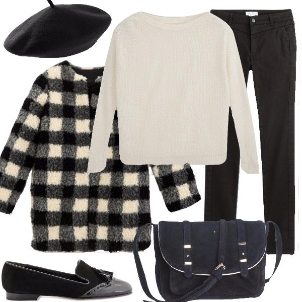Outfit Classica in bianco e nero
