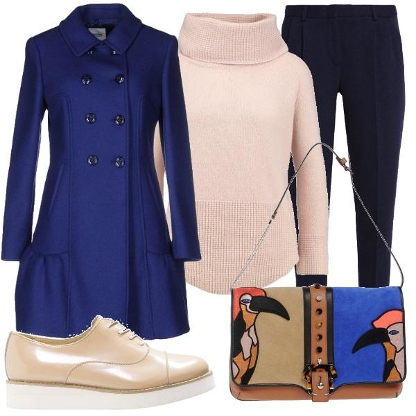 Outfit Blu e sabbia