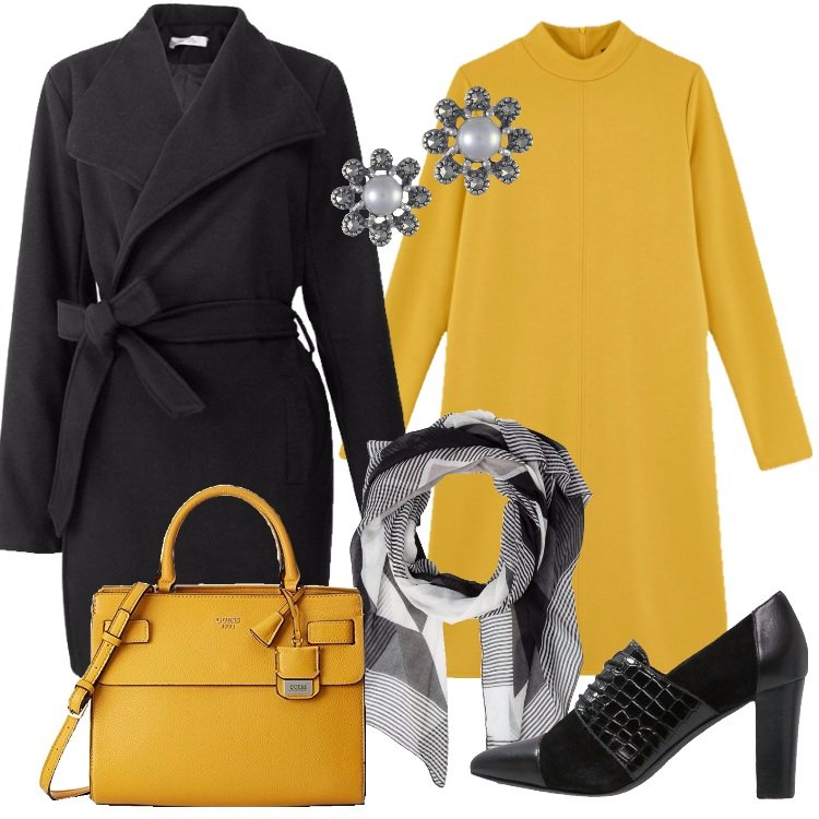 Outfit L'abito spicy mustard