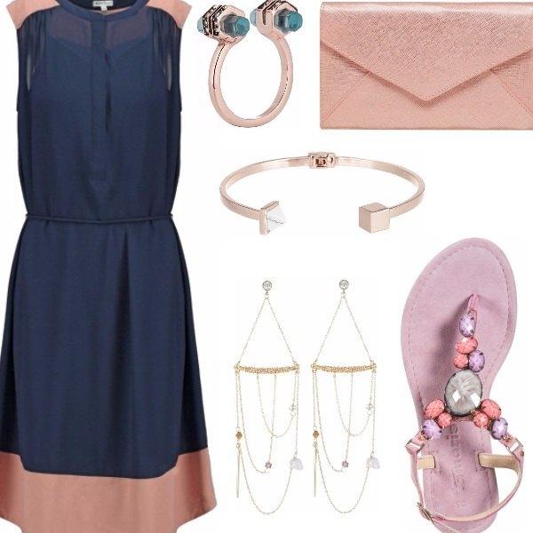 Outfit Blu e rosa