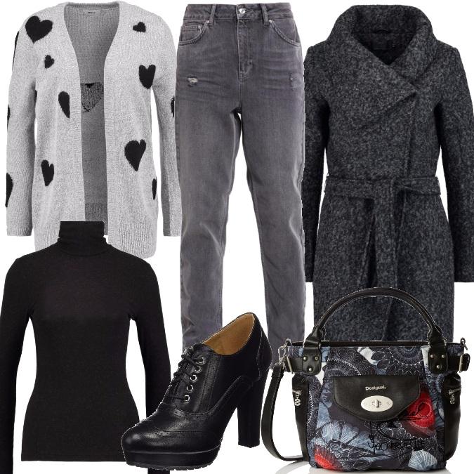 Outfit Grigio e nero per il giorno