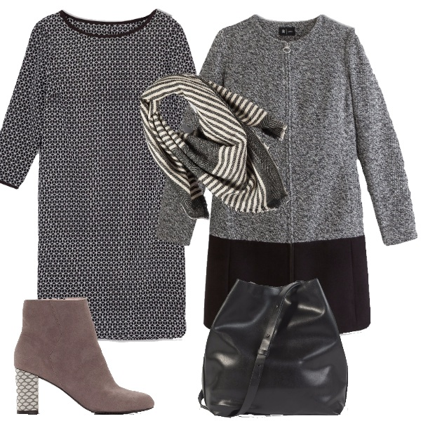 Outfit Mix in grigio