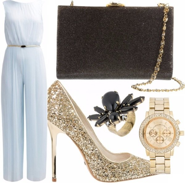 Outfit Blu & gold