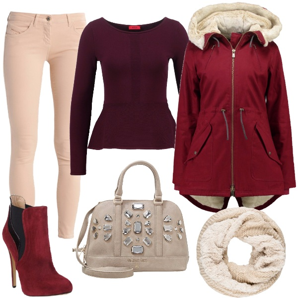 Outfit Chiarezze rosse