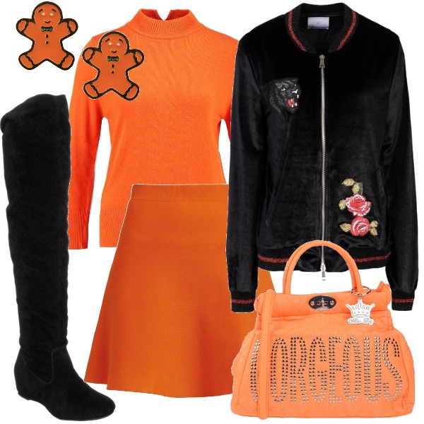 Outfit Arancione glam