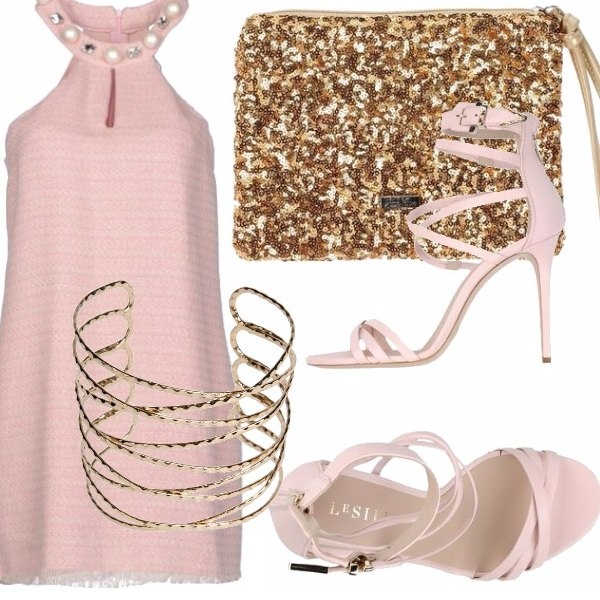 Outfit Appuntamento gold & pink