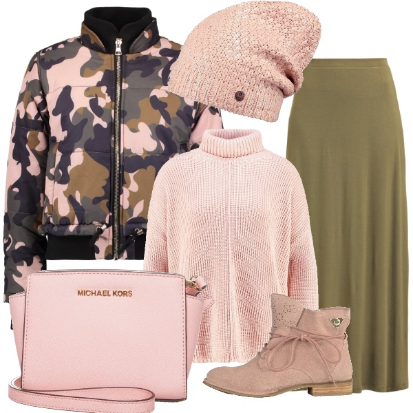 Outfit Mimetica in rosa