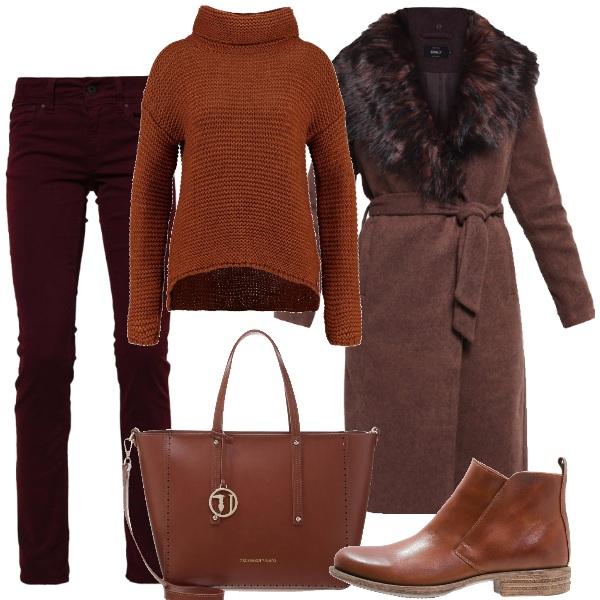 Outfit Merlot e ruggine