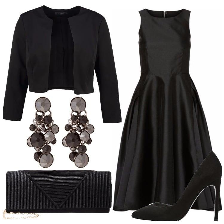 La classe dellu0026#39;abito nero outfit donna Chic per serata fuori | Bantoa