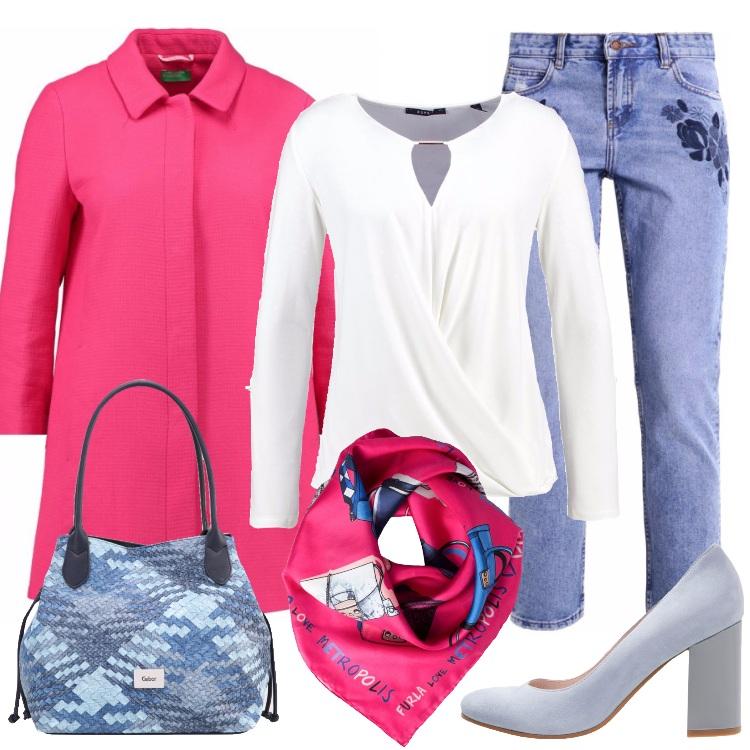 Jeans E Colori Allegri In Ufficio Outfit Donna Basic Per