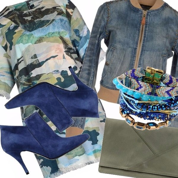 Outfit Camouflage in blue