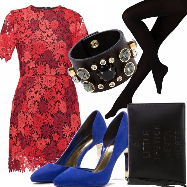 Outfit Red lace