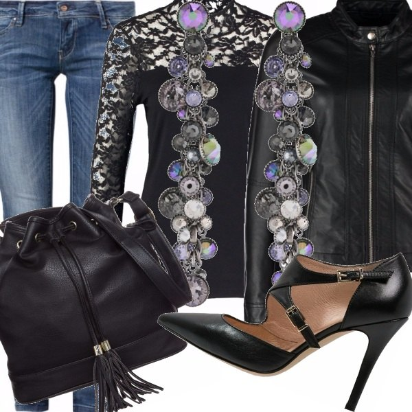 Outfit Rock and lace