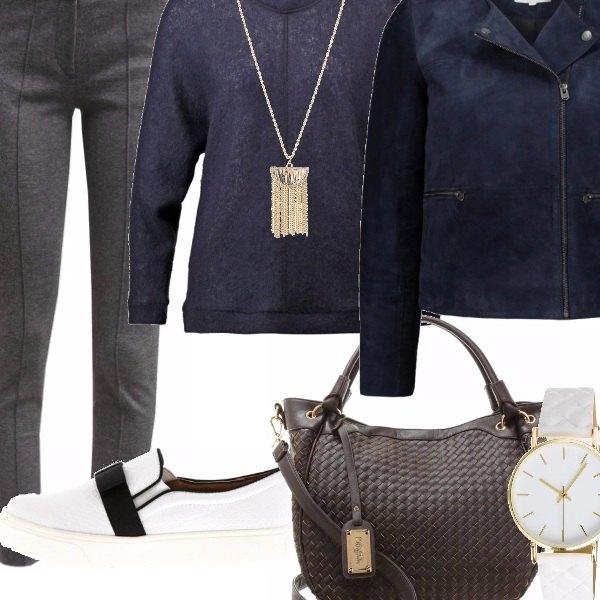 Outfit Cinquanta sfumature di blu